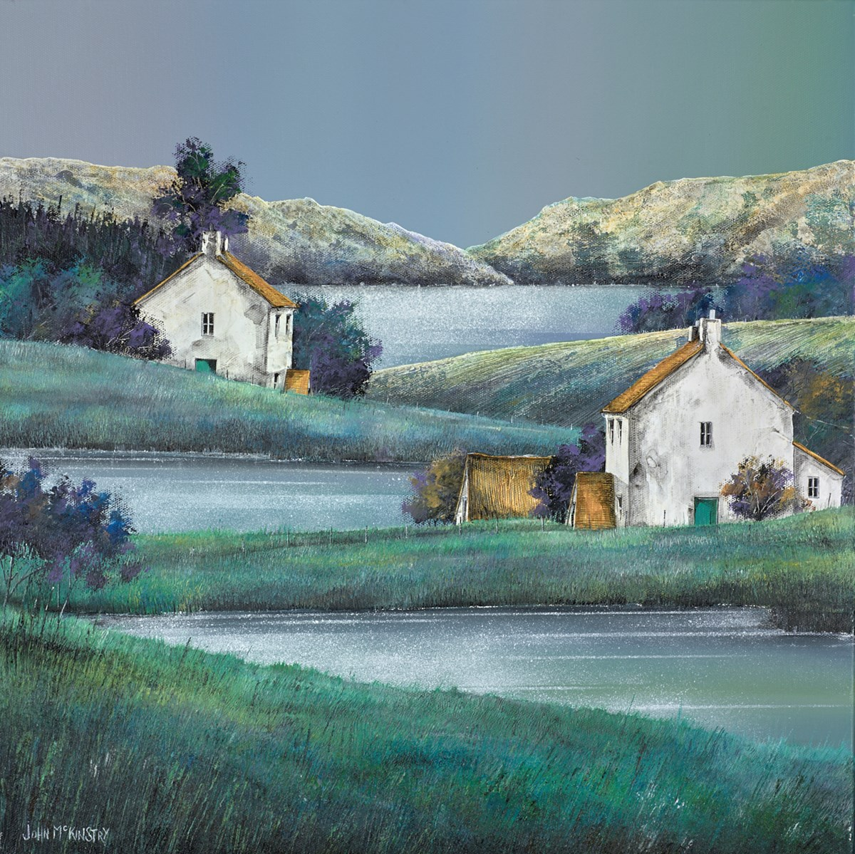 Greenscape by john mckinstry -  sized 20x20 inches. Available from Whitewall Galleries